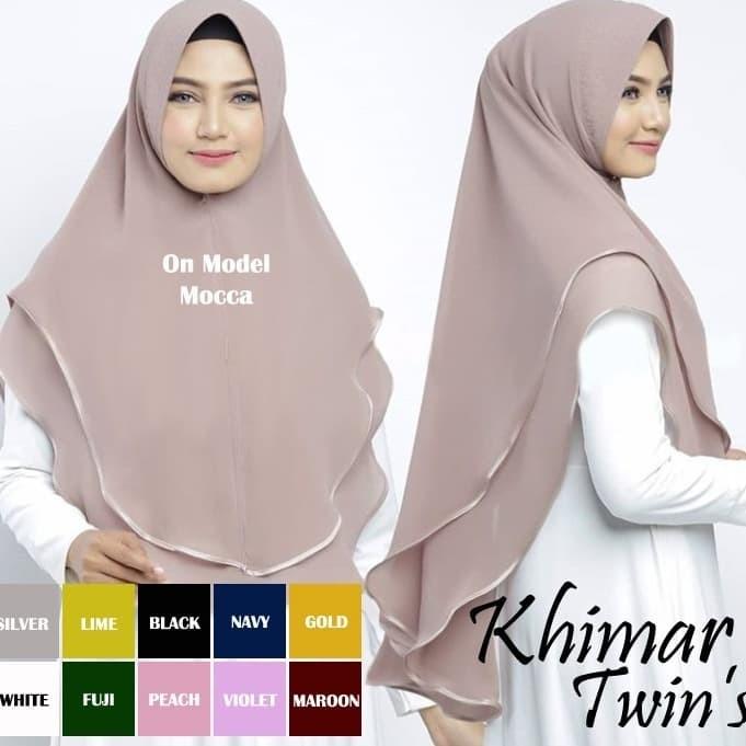 Jual Hijab Khimar Syari Terbaru Jilbab Twins 2 Layer Ceruti Kerudung Jumbo Kota Bogor Master Hijabstore Tokopedia