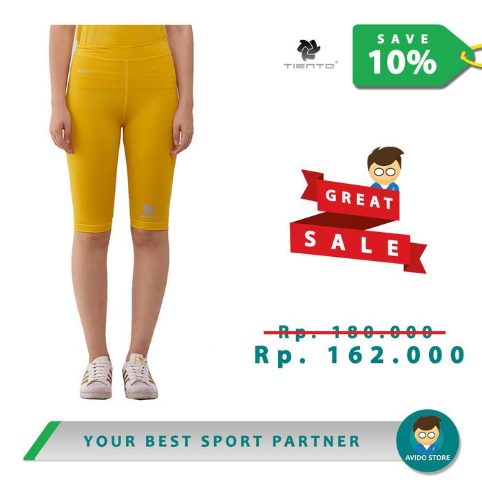 Jual Tiento Baselayer Celana Legging Sport Wanita Leging Half Pants Yellow Kuning Xl Kota Bandung Avido Store Tokopedia