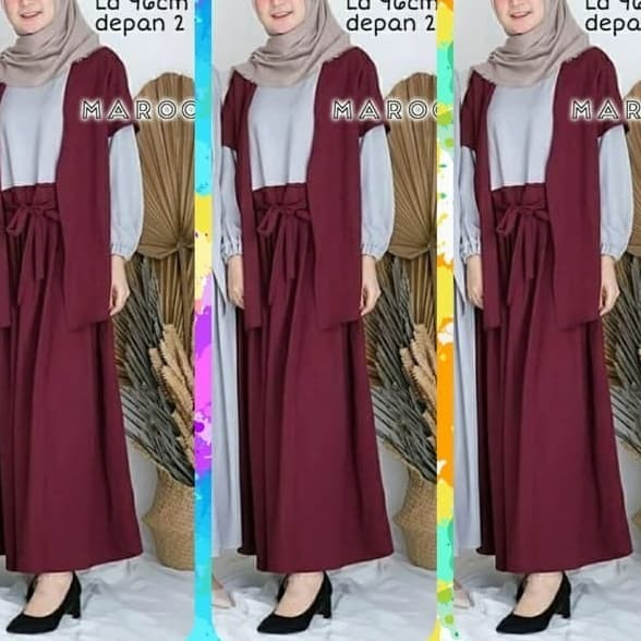 Jual Maxi Baju Muslim Wanita Korea Unik Modern Maxy Unik Fashion Gaya Jakarta Pusat Bell S Boutique Tokopedia