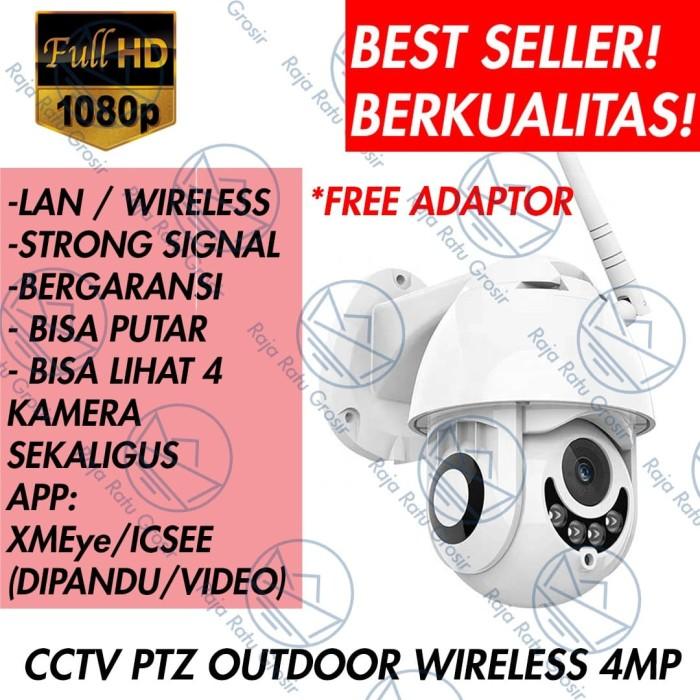 Foto Produk IP CAM CAMERA CCTV OUTDOOR WIRELESS WIFI 1080P HD PTZ SPEED DOME A108 - Tanpa Memori dari Raja Ratu Grosir