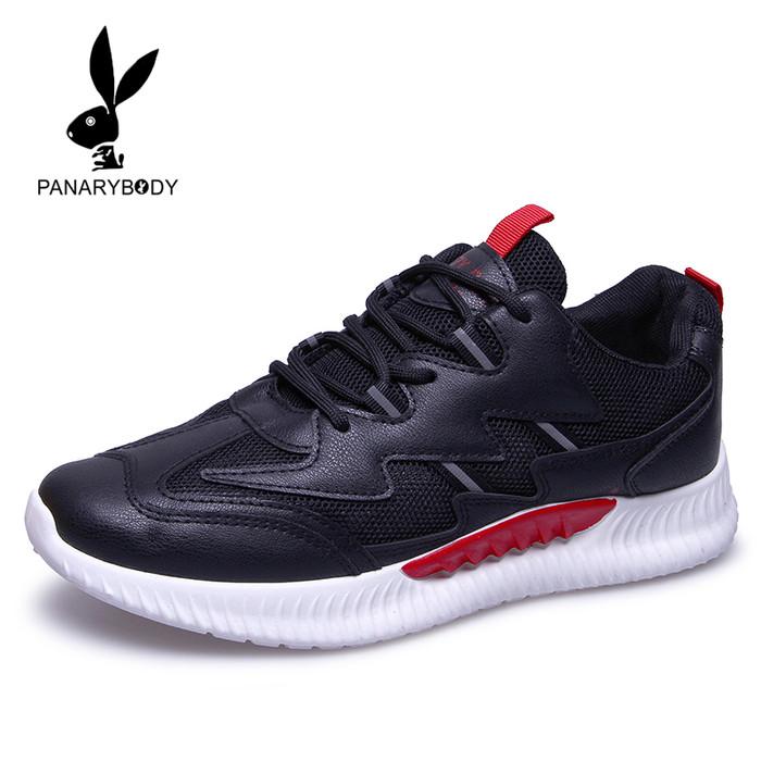 Sepatu Sneakers Pria Panarybody Sneakers Tali Putih Korea