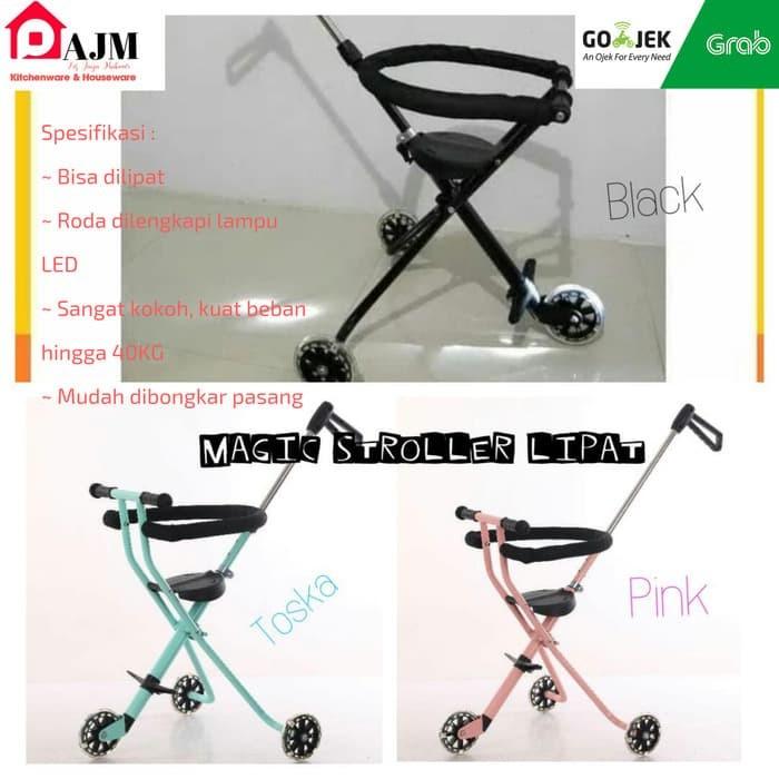 harga Magic stroller lipat 3 roda stroller balita dan bayi kereta dorong Tokopedia.com