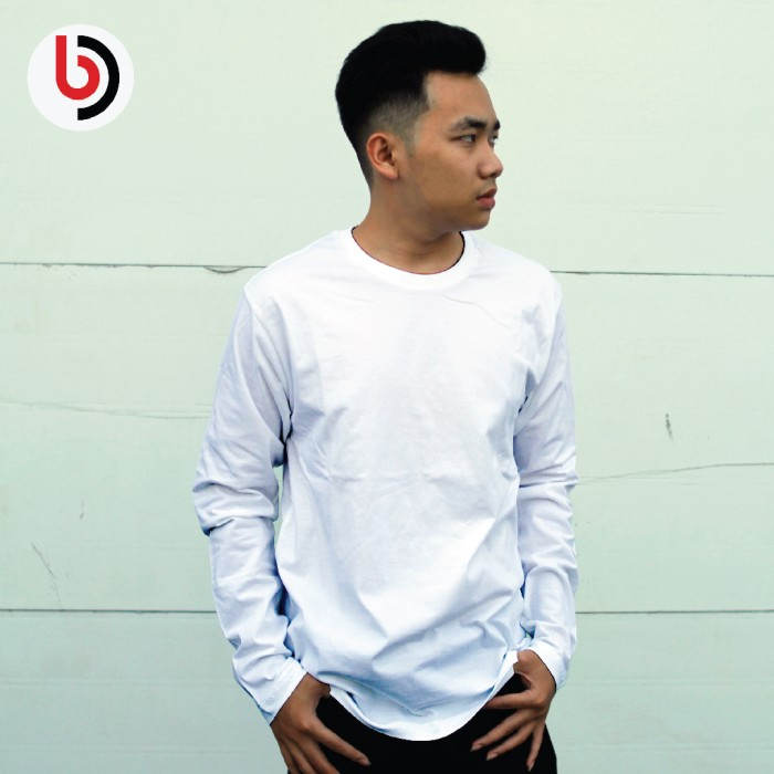 Foto Produk Kaos polos Panjang Koze Premium Comfort size XS,S,M,L,XL Warna Putih dari Sablon Digital Indonesia