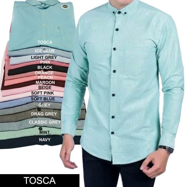 Foto Produk Kemeja pria lengan panjang polos - Tosca, XL dari Tasumi Shop