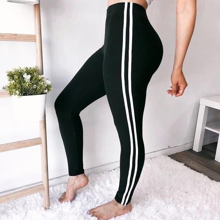 Jual Celana Leging Wanita Celana Senam Wanita Leging Warna Hitam Putih List Jakarta Barat Valleries Tokopedia