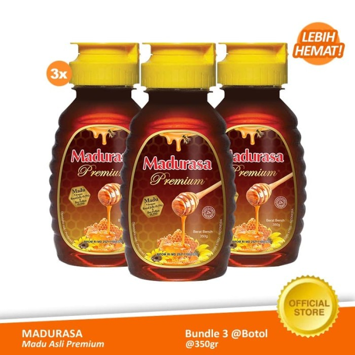 Foto Produk Beli 3 Madurasa Premium Madu Royal Jelly Bee Polen 350gr dari Air Mancur Official Shop