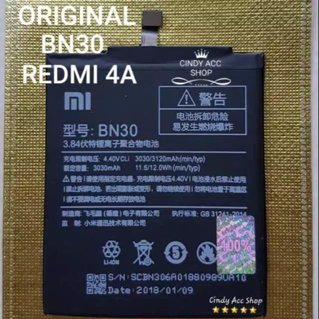 Foto Produk Baterai Battery Batre Original Xiaomi Redmi 4A BN30 BN 30 dari Cindy acc shop