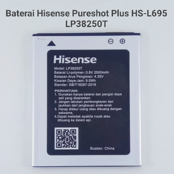 Foto Produk Baterai Hisense Pureshot Plus HS - L695 Original Batre Battery dari Cindy acc shop