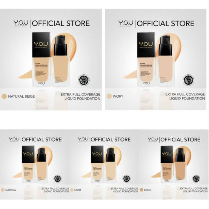 Jual Y O U Extra Full Coverage Liquid Foundation Light Kab Karanganyar Timo Collection Tokopedia
