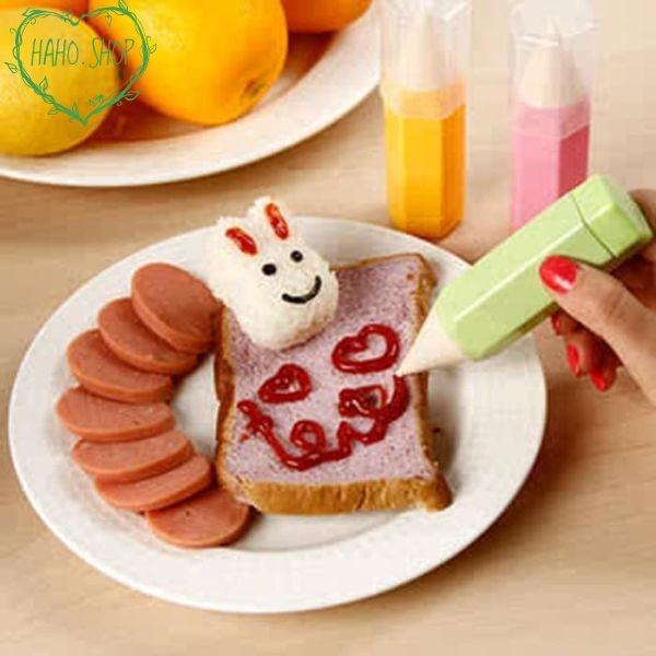 Foto Produk Grosir Food Drawing Pen Decorating For Bento Tools (isi 3pcs) Keren dari haho.shop