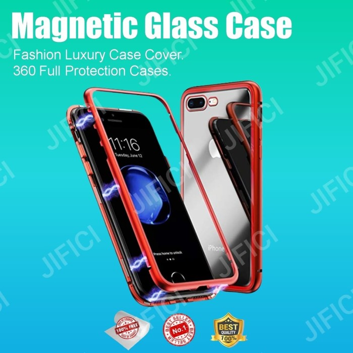Foto Produk Vivo Y95 Magnetic glass 2in1 premium case dari JIFICICELL