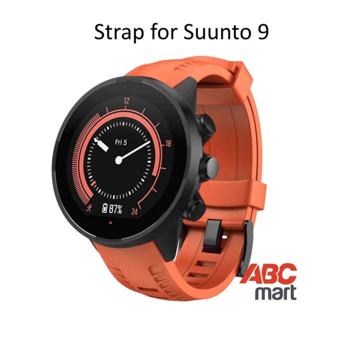Foto Produk Strap for Suunto 9 BARO watch - Tali jam sport Suunto - ORANGE dari ABCmart