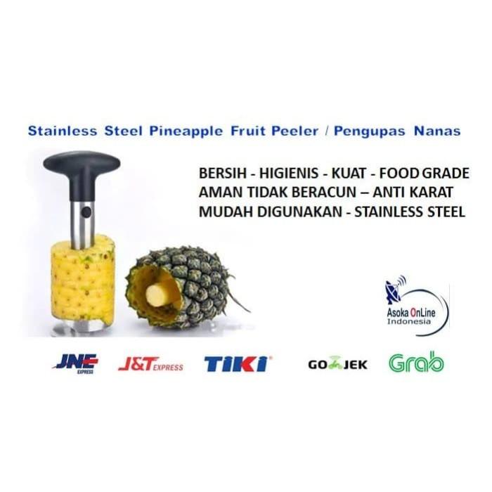 Foto Produk Alat Pengupas Nanas Stainless Steel Pineapple Fruit Peeler dari Gudang Metro JKT