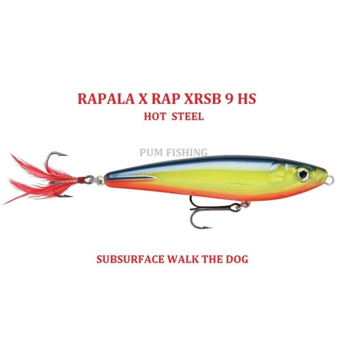 Rapala XR-8 XRAP Slashbait Long Casting Suspending Lure Hot Steel  New