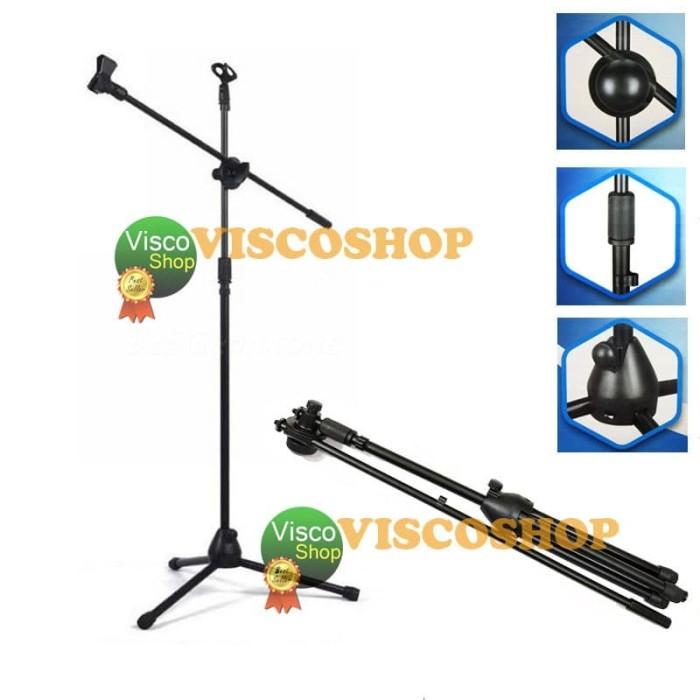 harga Krezt nb 200 stand mic lantai - hitam Tokopedia.com
