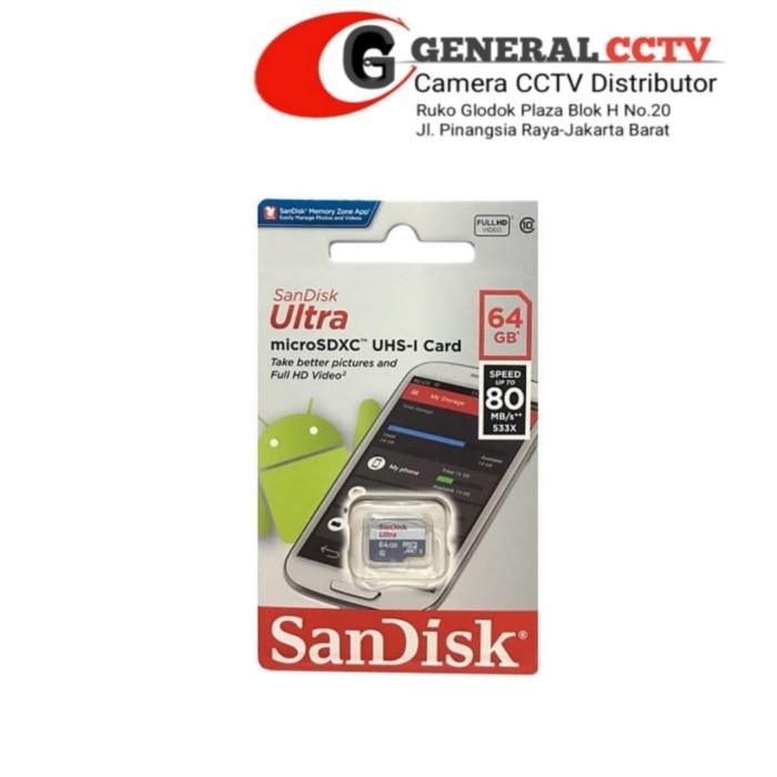 Foto Produk Memori MicroSD Sandisk 64 GB dari general cctv