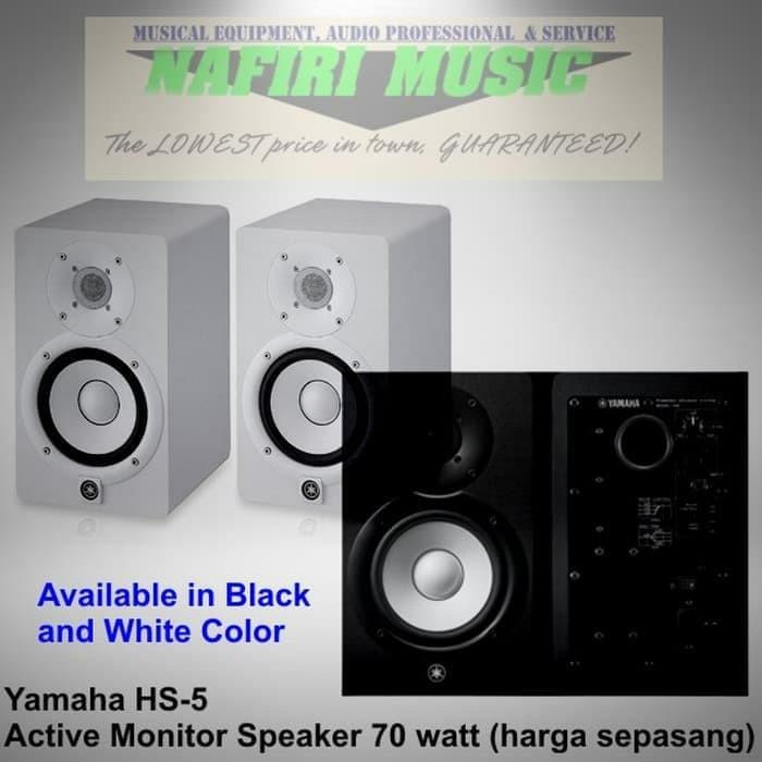 harga Studio flat monitor yamaha hs-5 / yamaha hs5 / yamaha hs 5 harga murah Tokopedia.com