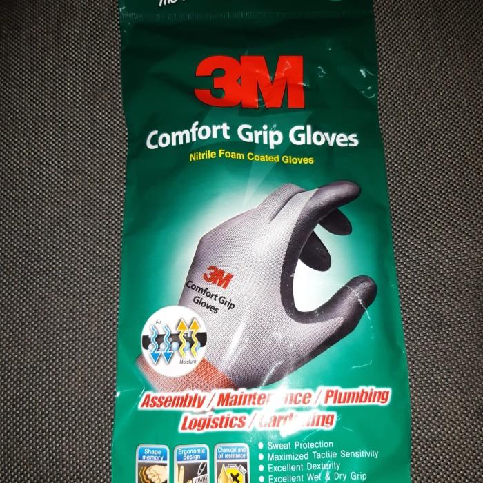 Foto Produk sarung tangan 3M Comfort grip glove.nitrile foam coated glove - Abu-abu dari alvindojaya
