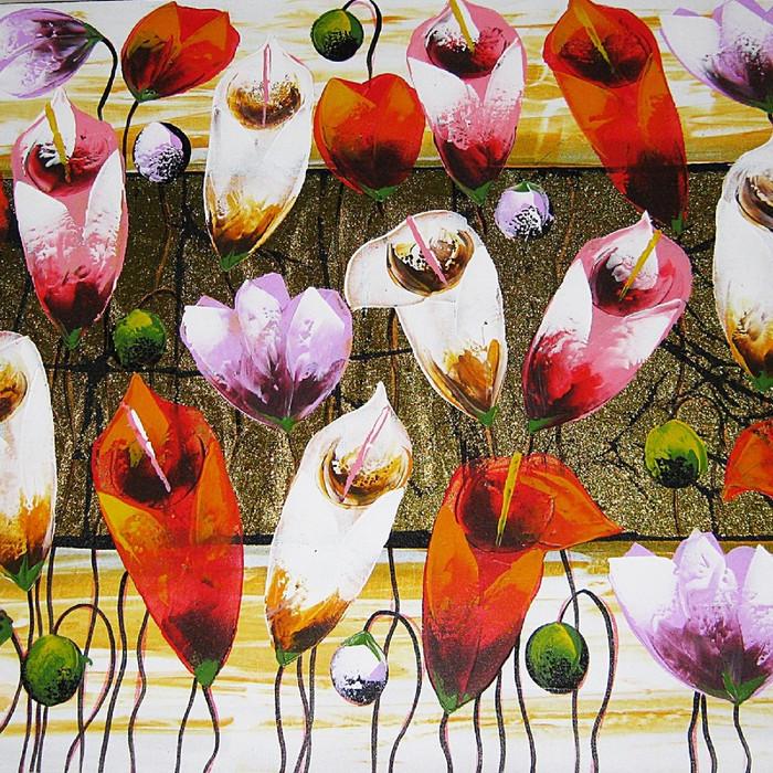 Jual Lukisan Bunga Kenzo Yang Indah Model Terbaru Kota Denpasar Bali Bagus Art Tokopedia