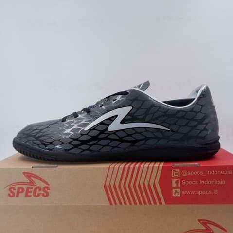 Promo Sepatu Futsal Specs Cruz In Gun Metal Grey Black Silver