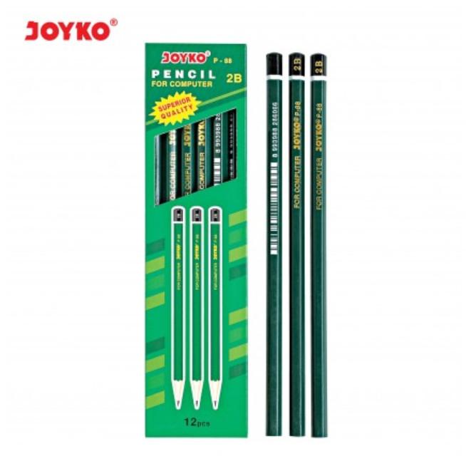 Foto Produk Pensil Kayu Joyko 2B - P-88 P 88 Pencil ATK MURAH GROSIR!! (Per Lusin) dari MEIZON ATK CENTER