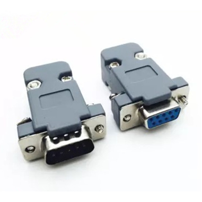 Foto Produk DB9 connector Male 9p with cover case DB 9 pin serial adapter rs232 dari arduinouno