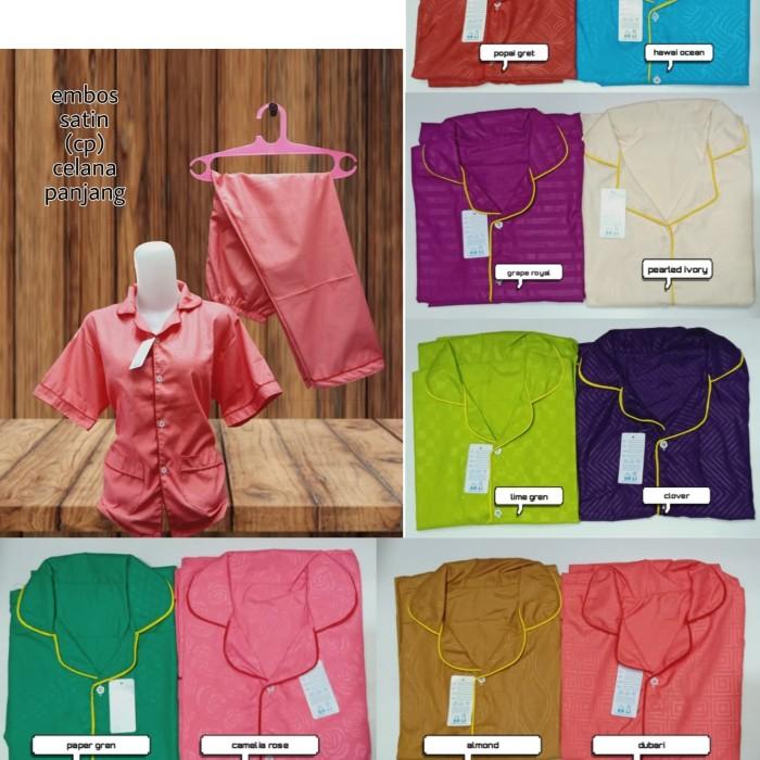 Foto Produk Piyama satin / satin embos / baju tidur dari MR Colection Bandung