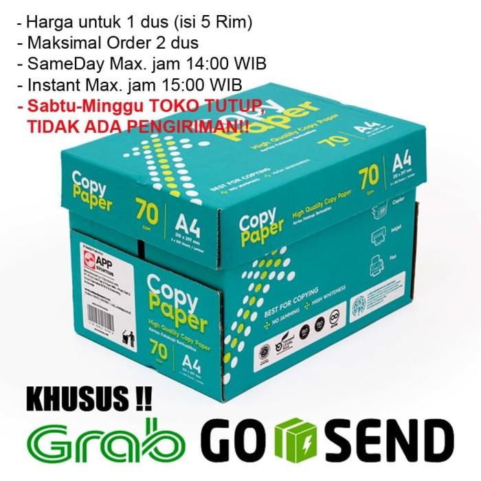 Foto Produk Kertas HVS A4 Copy Paper 70 gsm 1 Dus/5 Rim (KHUSUS GOSEND/GRAB) dari HQ Stationary and Toys