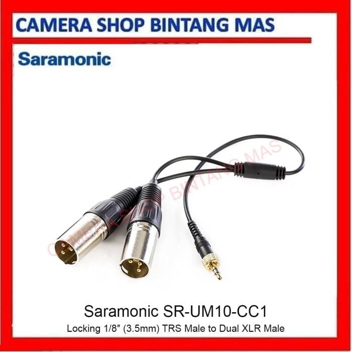 Foto Produk Saramonic SR-UM10-CC1 Locking 1/8″ (3.5mm) TRS Male to Dual XLR Male dari Camera Shop Bintang Mas