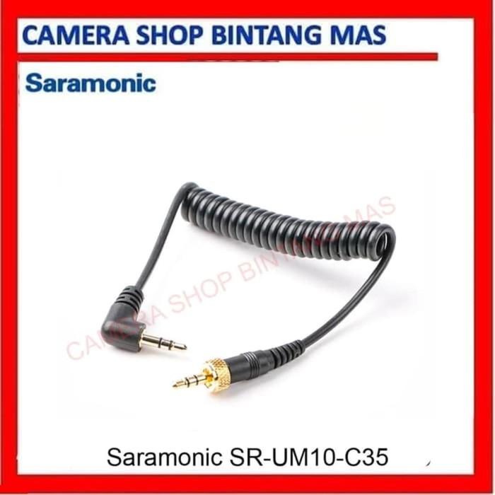 "Foto Produk Saramonic SR-UM10-C35 Replacement Loking Type 1/8"" 3.5 TRS to 1/8"" 3.5 dari Camera Shop Bintang Mas"