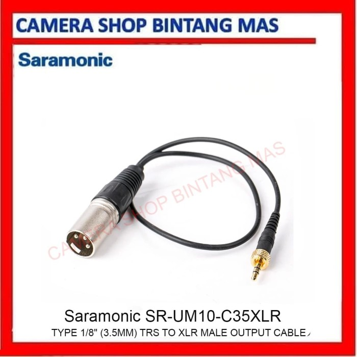 "Foto Produk Saramonic SR-UM10-C35XLR Type 1/8"" (3.5mm) TRS to XLR Male Output dari Camera Shop Bintang Mas"