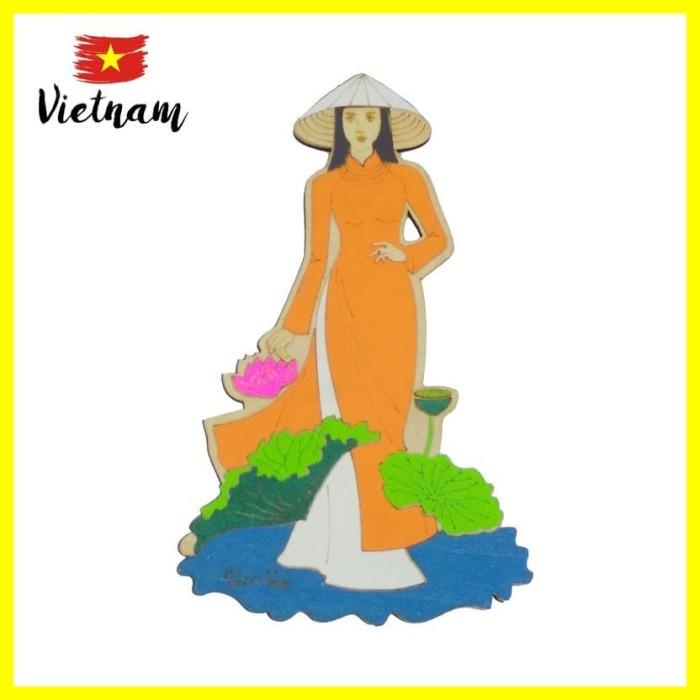 Foto Produk Souvenir Mancanegara Magnet Tempelan Kulkas Vietnam Cewek Teratai dari Iyesh Online Store