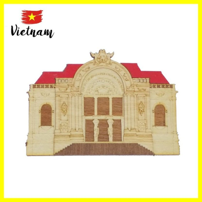 Foto Produk Souvenir Mancanegara Magnet Tempelan Kulkas Vietnam Hanoi Opera House dari Iyesh Online Store