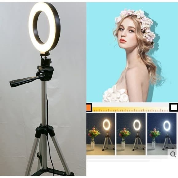 Foto Produk Ring Light 6 inch + Light Stand 100cm Ring Light Makeup & Selfie dari mysmiley