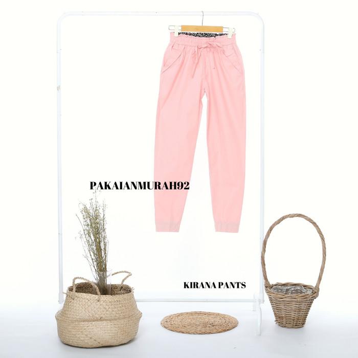Foto Produk KIRANA PANTS CELANA BIG SIZE WANITA BAGGY PANTS WARNA PINK MINT MURAH - ALL SIZE dari PAKAIANMURAH92