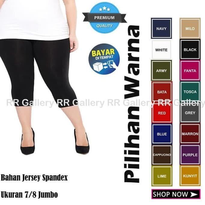 Jual Celana Legging Panjang Jumbo 7 8 Wanita Bahan Leging 3 4 Adem Jakarta Barat Irmana Shop Tokopedia
