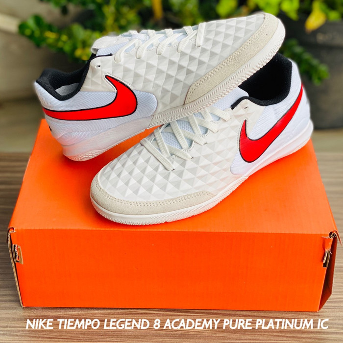 Jual Sepatu Futsal Nike Tiempo Legend 8 Academy Pure Platinum Ic