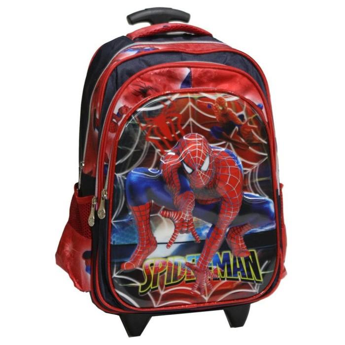 Foto Produk PROMO Tas Trolley Anak Sekolah SD Spiderman Jaring Laba-Laba 5D Timbul dari BelindaStore99