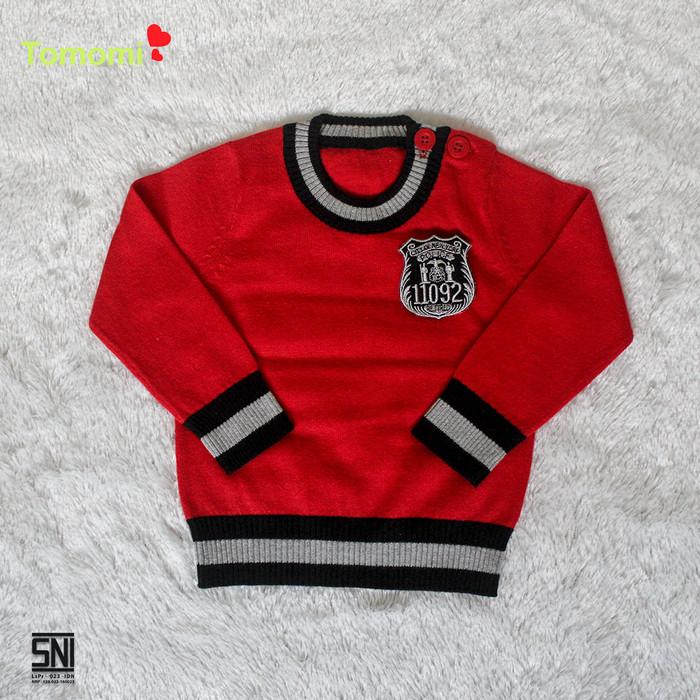 Foto Produk Cardigan Police - 6-9 Bulan, Merah dari Tomomi Baby Wear