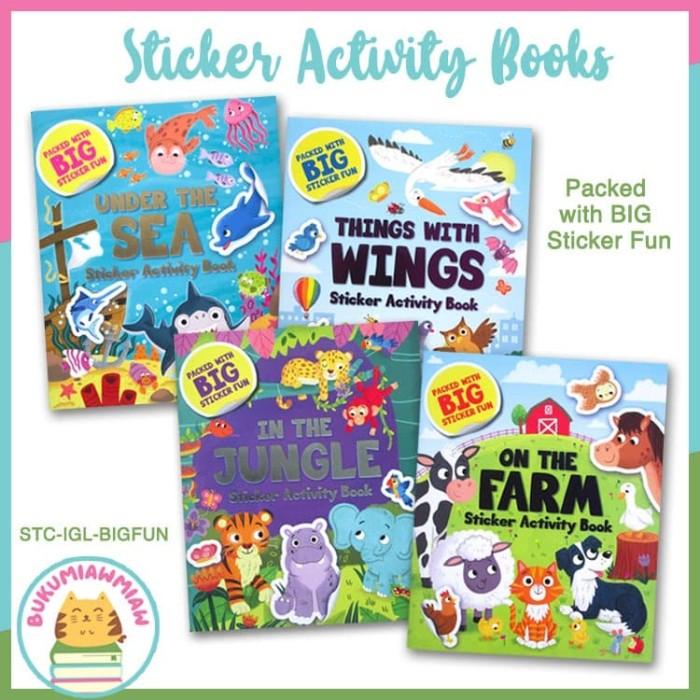 Foto Produk PROMO BUY 3 GET 1 FREE Animals Sticker Activity Books with BIG Animal dari BukuMiawMiaw