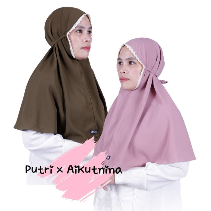 Jual Hijab Bergo Non Pet Tali Renda Murah Berkualitas Kab Cianjur Hijab Putri X Aikutnina Tokopedia
