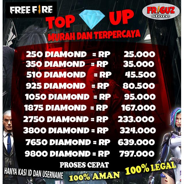 Jual Super Promo Diamond Garena Free Fire Via Id Termurah Terpercaya 350 Kota Denpasar Friguz Store Tokopedia