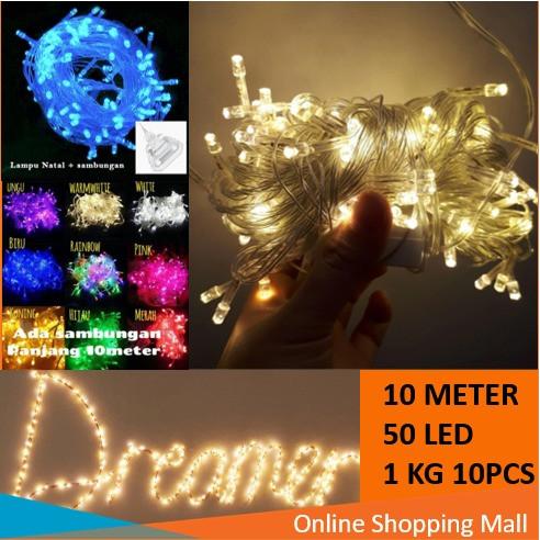 Foto Produk Raja - Lampu Hias Natal 10 Meter 50 LED / Tumblr Light / LED Dekorasi - Biru dari Raja_pedia