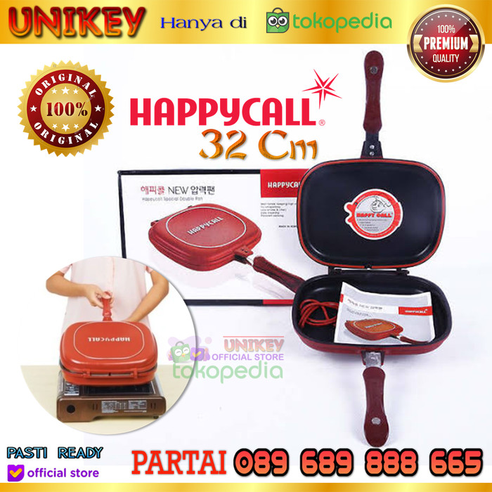 Foto Produk Happy Call DESSINI 32 cm Made in Italy GRILL DOUBLE SIDED PAN dari UNIKEY