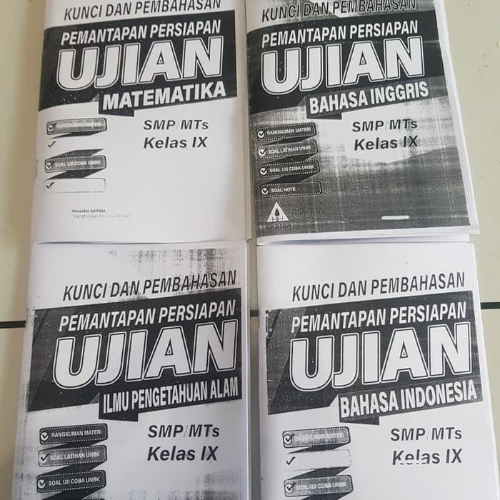 Jual Kumpulan Soal Smp Buku Kunci Jawaban Pemantapan Persiapan Ujian Smp Jakarta Timur Radithutasoit Tokopedia