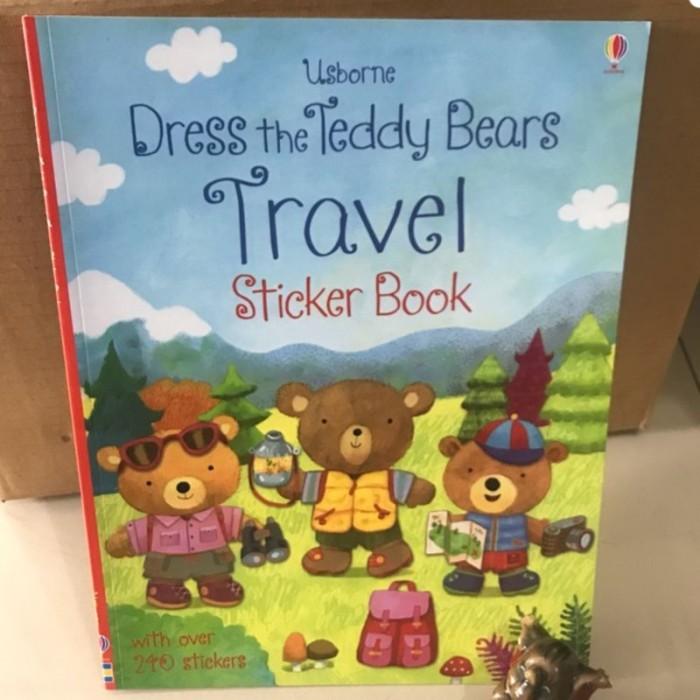 Foto Produk Usborne dress the teddy bears travel sticker book - buku import anak dari lalinnakiddiestore