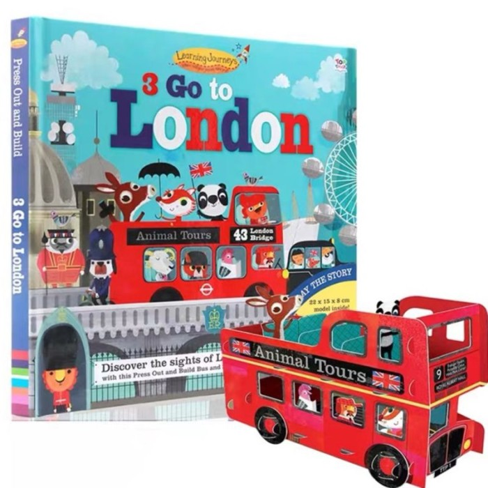 Foto Produk Top that press out and build 3 go to London - buku import anak dari lalinnakiddiestore