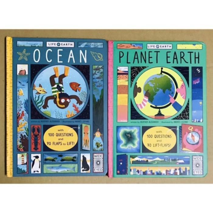 Foto Produk Wide eyed life on earth ocean - planet earth - lift the flap book - dari lalinnakiddiestore