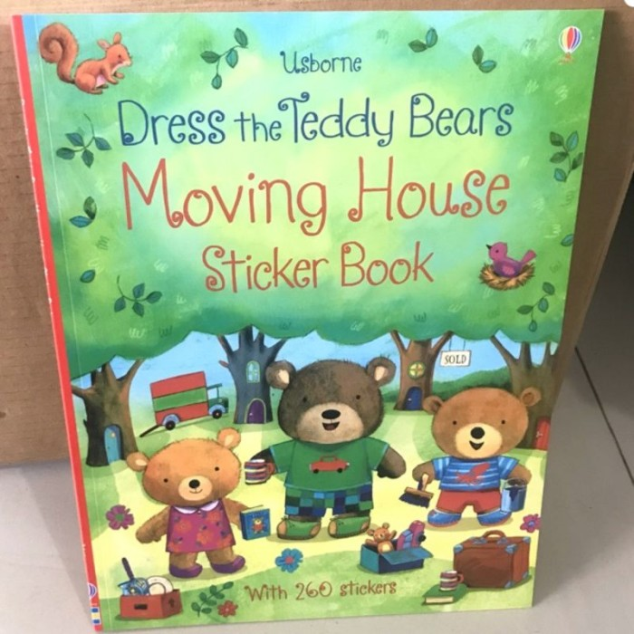 Foto Produk Usborne dress the teddy bears moving house sticker book - activity dari lalinnakiddiestore