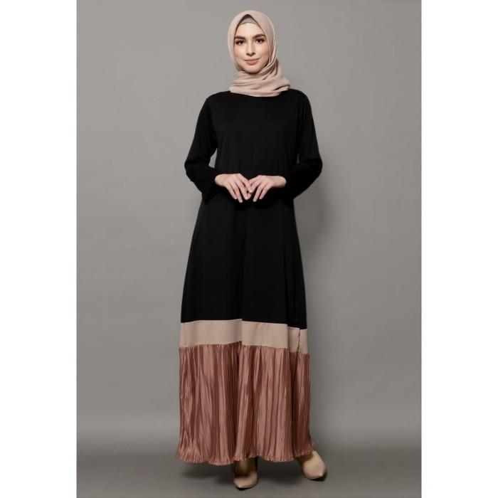 Foto Produk Mybamus Anandya Mix Plisket Dress Black M15243 R60S2 dari Mybamus Official